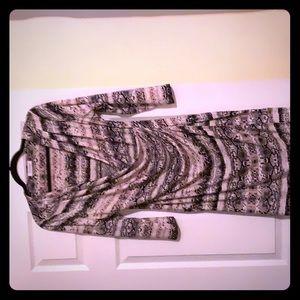 Calvin Klein size M draped dress 3/4 sleeves